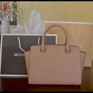 Michael Kors Selma Medium Satchel khaki